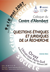 Affiche colloque 2007