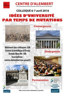 Affiche du colloque 2016